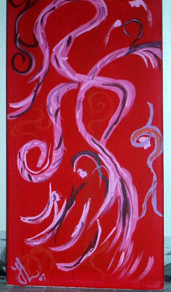 Endnu et forsøg på abstrakt kunst. 20 * 40 acryl maling